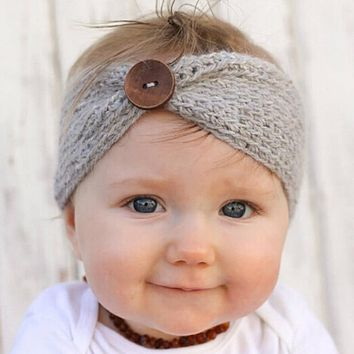 Baby Girls Turban Ear Winter Warmers Headband Crochet Knitted Headwear / 6 colors