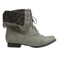 Foldover Wide Width Combat Boot | Shop Just Arrived at Wet Seal