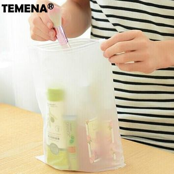 Travel Clothes Practical Portable Plastic Travel Organizer Bag Waterproof Travel Accessories Ziplock Bags