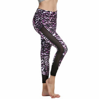 Mesh Patchwork Women's Fitness Leggings
