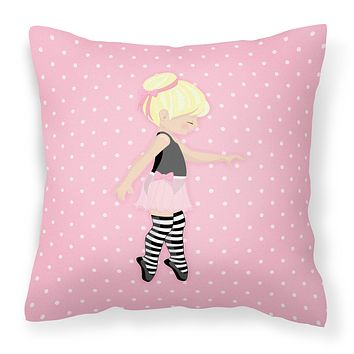 Ballerina Blonde Releve Fabric Decorative Pillow BB5162PW1414