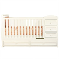 AFG Daphne I 2-in-1 Convertible Crib and Changer Combo
