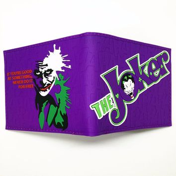 Comics Dc Marvel lovely joker the Avengers Suicide Squad Cartoon Wallet Cute 3D Purse Logo Credit Card Holder Man Wallet