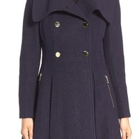 GUESS Envelope Collar Double Breasted Coat (Regular & Petite) | Nordstrom