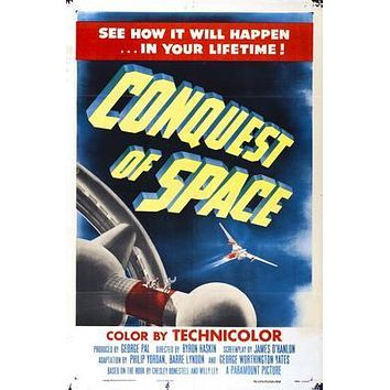 Conquest Of Space Movie poster Metal Sign Wall Art 8in x 12in