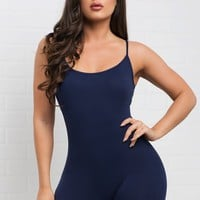 Martha Romper- Navy