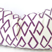 Purple Pillow, Purple Lumbar Pillow, Purple Cushion, Purple Velvet, Cotton Canvas, Bohemian Pillows, 12x22 or 18 Inch