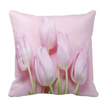 pale pink tulips,digital modern photo,pattern,chic throw pillows