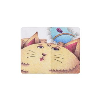 Sleepy cat pocket moleskine notebook