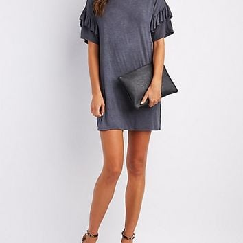 Ruffle-Trim T-Shirt Dress