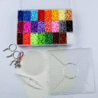 Perler beads Set 5mm Hama Beads 24 Colors 5500pcs Box set Diy Educational Kid's Toy Craft Gift Set