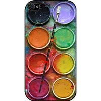 Paintbox Watercolor Set Funny Iphone 4/4s Case, Iphone Cover, Iphone Hard Rubber Case Black - All Carriers