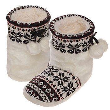 Emmalise Womens Slipper Boots Indoor Lounge Fur Shoes Fur Boots for women