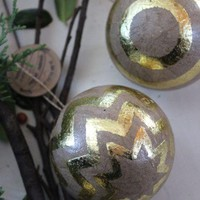 Chevron Paper Ornaments, Recycled Materials