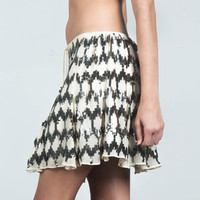 Elizabeth And James Sequin Print Skirt