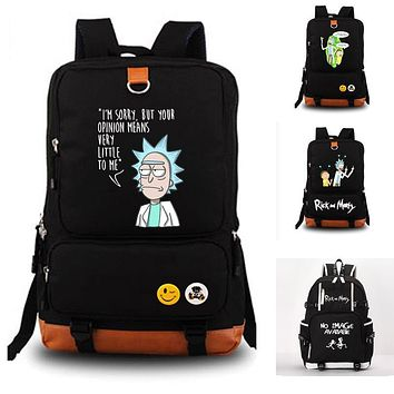 Rick and Morty school bag Rock Band backpack student school bag Notebook backpack Leisure Daily backpack