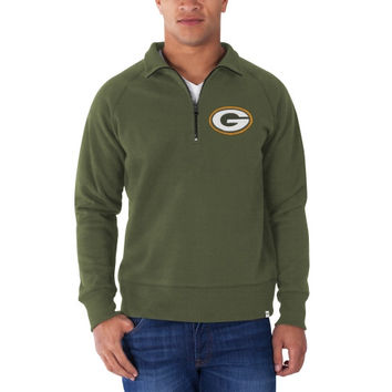 Green Bay Packers '47 Brand Cross Check 1/4 Zip Pullover Sweatshirt – Green