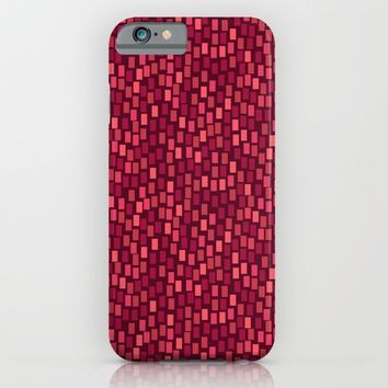 MOSAICS: RED WINE iPhone & iPod Case by Eileen Paulino