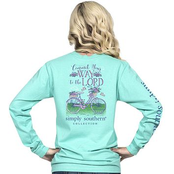 """Simply Southern """"Preppy Lord"""" Bicycle Long Sleeve Tee SALE"""