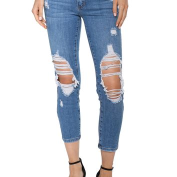 Just Black Distressed Boyfriend Jeans