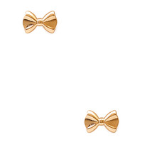 FOREVER 21 Femme Bow Studs Gold One