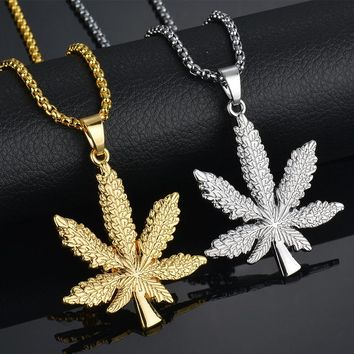 Iced Weed Hip Hop Necklace & Pendant
