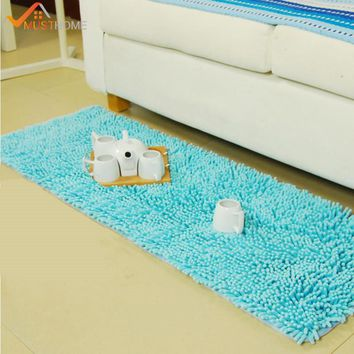 "50x120cm/19""x47"" Chenille Area Rugs and Carpets For Home Living Room Non Slip Shag Rug For Living Room"
