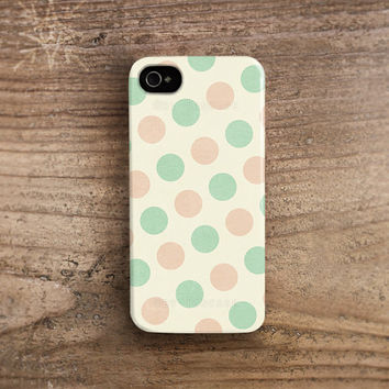 Dot iPhone 4 case, Dot iphone 5 case, Mint Polka dot iPhone 4 case polka dot iphone 5 case iPhone 4s case Retro iphone 4 case /c179