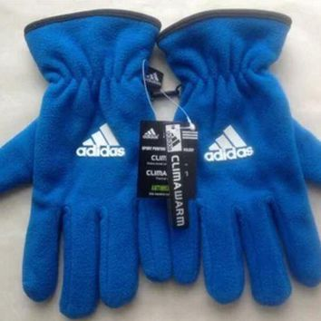 DCCKR2 Adidas Stylish Unisex Glove Winter Fleece Gloves Double Layer Extra Thick Outdoor Cycling Warm Gloves