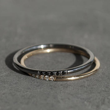 Dainty Ring, Diamond 14K Gold Ring, Stackable Ring, Custom