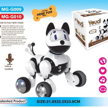 2017 Intelligent Electric Dog Voice Command Dog Puppet Singing Walking Dog Toys Smart Dogs For Kid Xmas Gifts With Original Box
