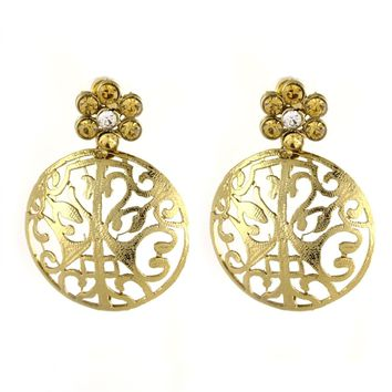 VVS Jewellers Gold Plated Ethnic Indian Bollywood Diwali Sale Karva Chauth Women Kundan Earrings