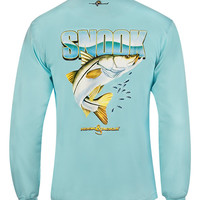 Men's Hook a Snook L/S UV Fishing T-Shirt