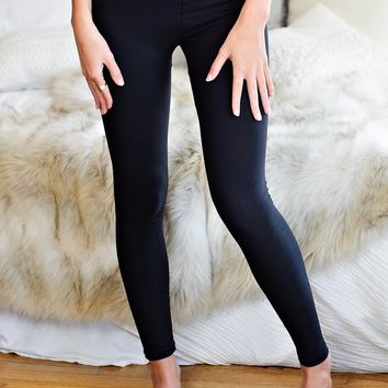 * Under My Spell Super Soft High Waisted Leggings: Black