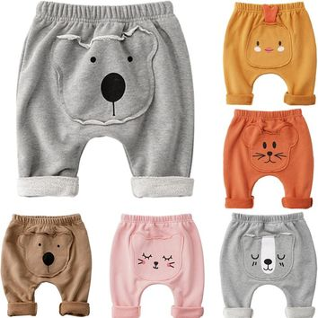 CANIS Newborn Autumn winter New Kitten Puppy Toddler Kid Baby Boy Girl Trousers Pants Leggings Cotton Soft  Boys Girls Pants