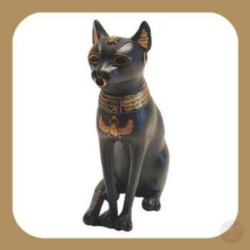 "All-Seeing Eye ""Cat Goddess"" Bastet Statue"