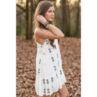 Down By The Lake Dress-Ivory