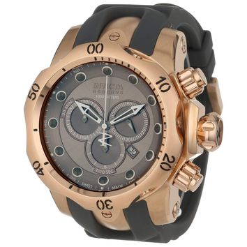 Invicta 11952 Men's Venom Reserve Grey Dial Rose Gold Steel Rubber Strap Chronograph Dive Watch