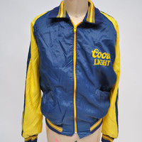 vintage jacket COORS LIGHT BEER two tone athletic jacket oversized boyfriend fit track