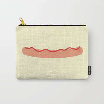 Naked hotdog Carry-All Pouch by minuskel-h