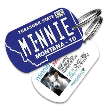 Montana License Plate Pet Tag