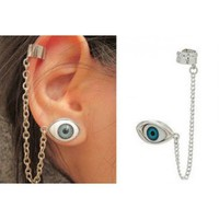 Silver Eyes Earrings Ear Clip@11010114