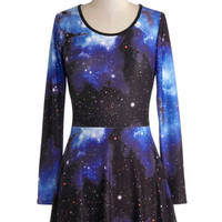ModCloth Cosmic Long Long Sleeve A-line Aerospace Engineer Tunic