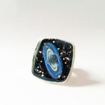 Saturn Ring, Planet Saturn Ring, Planet Ring, Space Ring, Solar System Art Ring, Art Jewelry, Outer Space Ring, Deep Space Jewelry, Galaxy