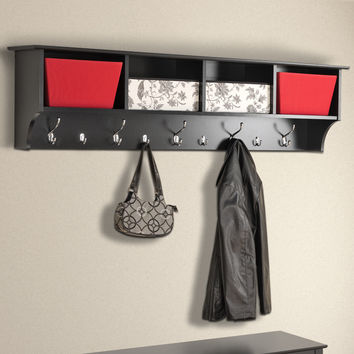 "Zipcode Design Mackenzie 60"" Hanging Entryway 9 Hook Storage Shelf"