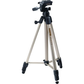"""Sunpak Tripod With 3-way Pan Head (folded Height: 20.3""""; Extended Height: 58.32""""; Weight: 2.8lbs; Includes 2nd Quick-release Plate)"""