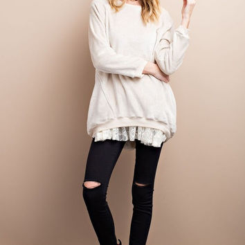 Soft Fleece Pull Over Knit Tunic