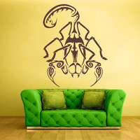 Wall Decal Vinyl Sticker Decals Scorpio Scorpion Tribal Art Animal (z1550)