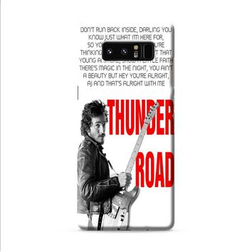 Bruce Springsteen Born To Run Quote Samsung Galaxy Note 8 case