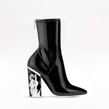 ANKLE BOOT BLACK PATENT CALFSKIN